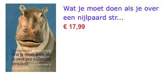 Wat je moet doen als je over een nijlpaard bol.com