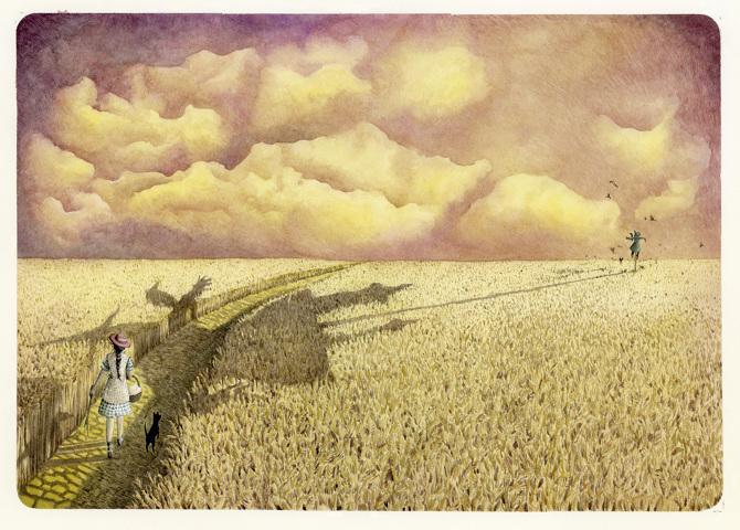 De tovenaar van Oz illustratie