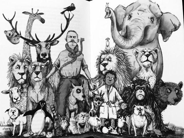 Eefje en de dieren illustratie