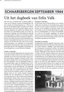 Felix Valk dagboek