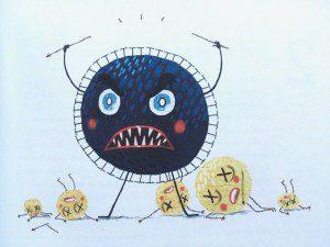 Monserlijke microben illustratie
