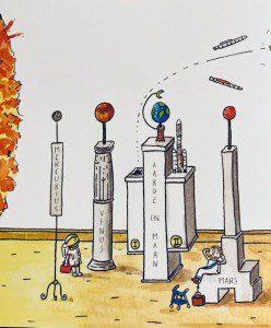 ©2020 Luitingh-Sijthoff, illustratie van Tjarko van der Pol uit Hadden de Grieken al raketten?